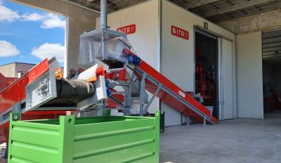 impianto trattamento RAEE uscita materiale