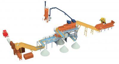 impianto-selezione-carta-cartone-disegno-3D
