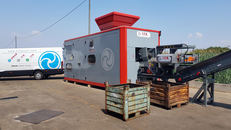 macchinario smaltimento e riciclo rifiuti ITR Omar impianti
