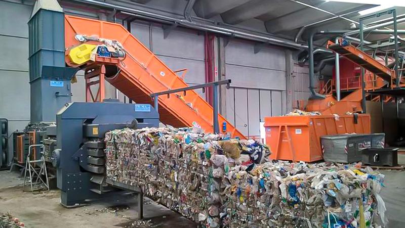 trasporto a tapparelle per rifiuti